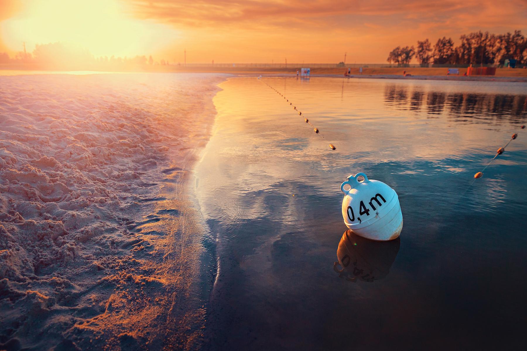 Strefy głębokości kąpieliska na Plaży Kuter Port
